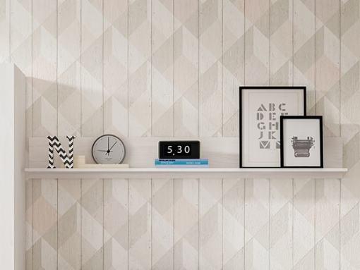 Estante de pared para dormitorios juveniles, 195 cm - Luddo