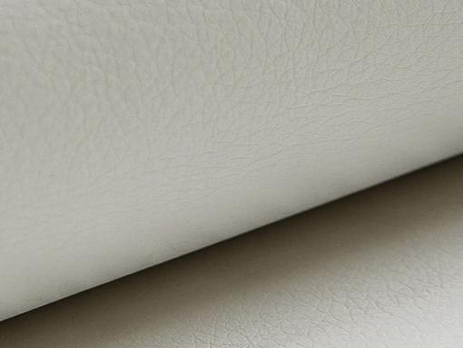 White synthetic leather of the Barbados sofa