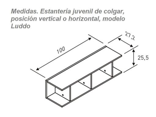 Dimensions of the Sectional Wall Shelf for Kids Rooms - Luddo