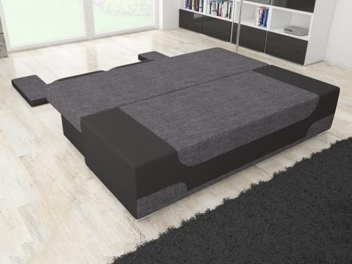 Cama abierta. Sofá cama bicolor con arcón modelo Ely