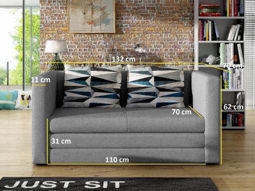 Medidas del sofá cama 2 plazas económico modelo Oxford