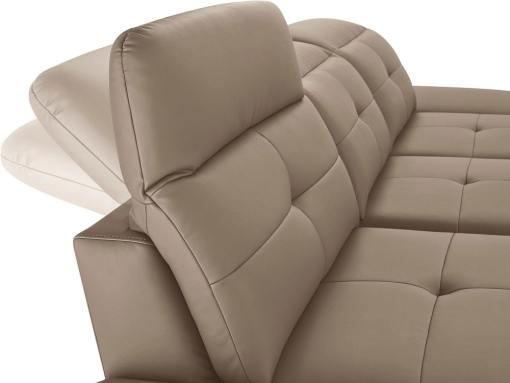 Reposacabezas reclinables del sofá chaise longue moderno de piel auténtica. Modelo New York