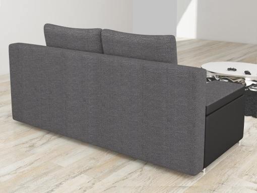 Tapizado detrás. Sofá cama bicolor con arcón modelo Ely