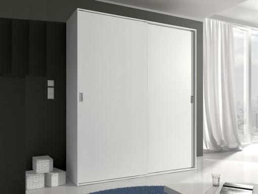 Armario moderno, 2 puertas correderas - Catania. Color blanco
