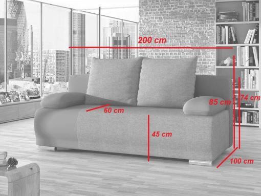 Medidas del sofá cama de 2 metros modelo Salford