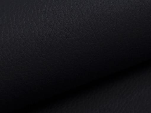 Piel sintética negra del sofá modelo Reims