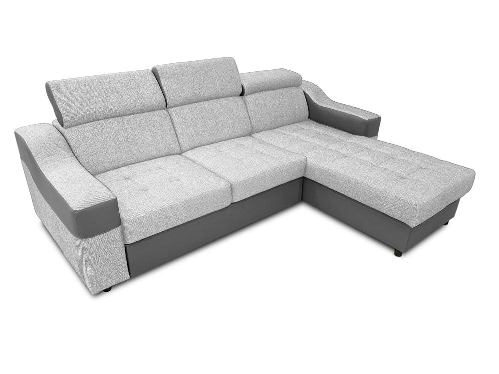 Sofá chaise longue cama con altos reposacabezas - Albi ...