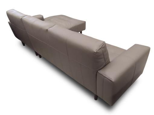 Обивка сзади. Угловой диван обитый натуральной кожей - Denver