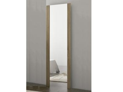 Full Legth Mirror with Brown Frame 180 cm - Cremona