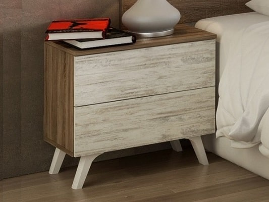 Modern Bedside Table With Inclined Legs Lucca Don Baraton