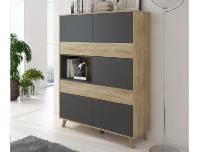 Modern Cupboard with Inclined Legs - Lucca
