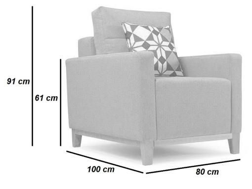 Dimensions of the Monaco armchair