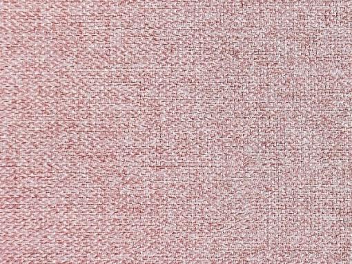 Tela color rosa. Conjunto de 2 sillones y un sofá cama con patas de madera y arcón - Monaco