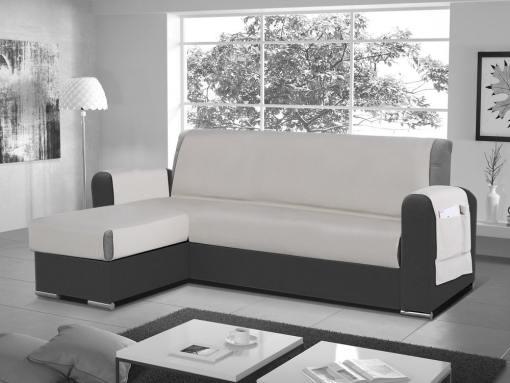 Funda salvasofá para sofá chaise longue - Cuvert 01. Color 'lino'. Esquina lado izquierdo