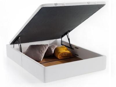 Двуспальная кровать с глубоким отделением для хранения - Geneva. Белый цвет