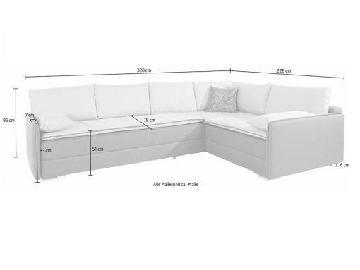 Medidas del sofá rinconera grande modelo Atlanta