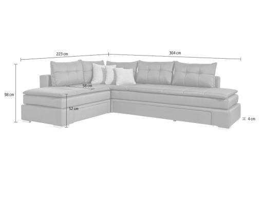 Dimensions of the Austin sofa