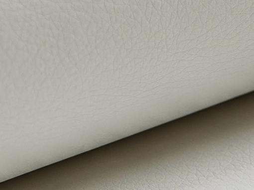 White synthetic leather of the Albi chaise longue sofa
