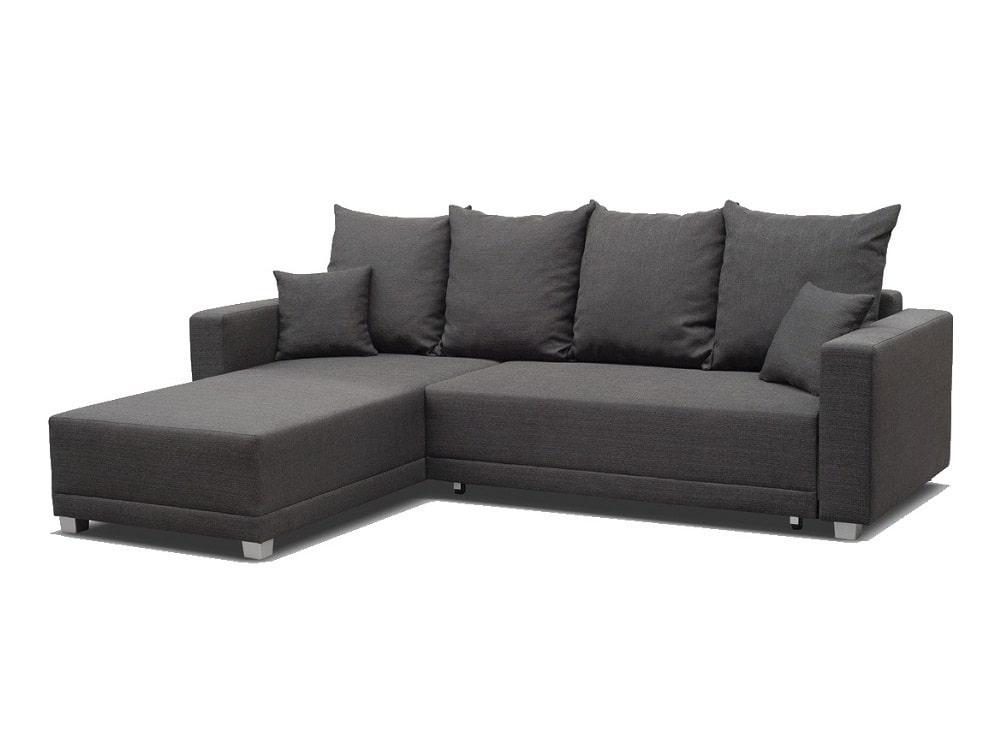 Sofá cama con chaise longue larga y arcón - Barrie - Don ...