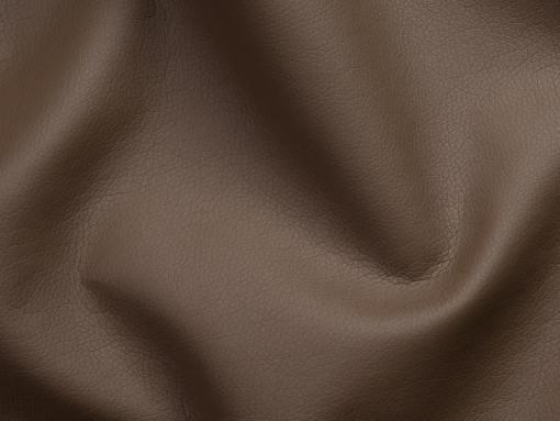 Piel sintética, color marrón del sofá chaise longue grande modelo Vernon