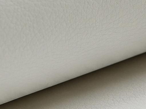 Piel sintética de color blanco del sofá rinconera modelo Lyon