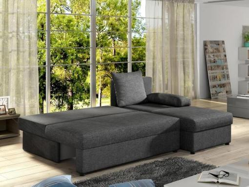 Small chaise longue sofa York unfolded into bed