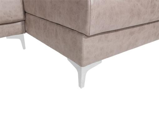 High chrome legs of the Huelva sofa