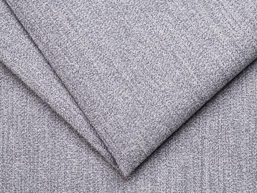 Tela sintética color gris claro del sofá rinconera modelo Brandon