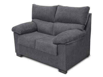 Inexpensive 2-seater sofa upholstered in synthetic fabric - Salamanca. Grey