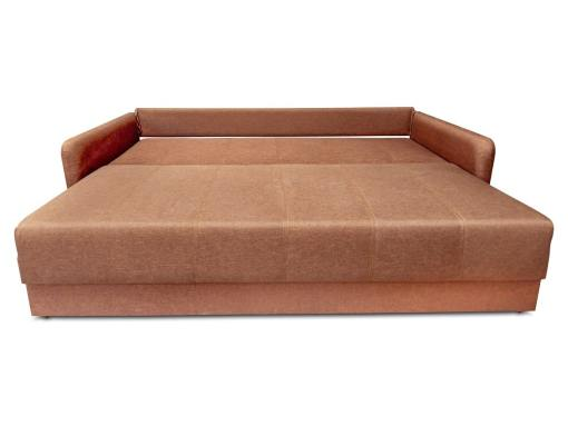 Sofa Bruges unfolded into bed. Brown fabric