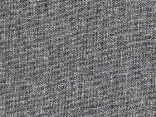 Tela gris claro de la cama de matrimonio modelo Emilia