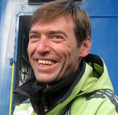 Председатель общественной организации Комитет развития, здоровья и спорта Мариуполя, призер чемпионата Украины по альпинизму Иван Молдованов.