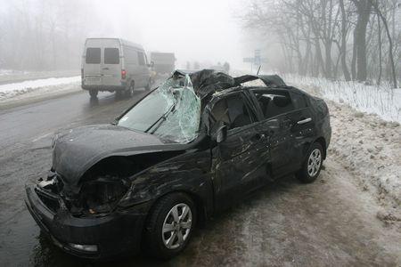В Макеевке из-за тумана столкнулись 13 авто