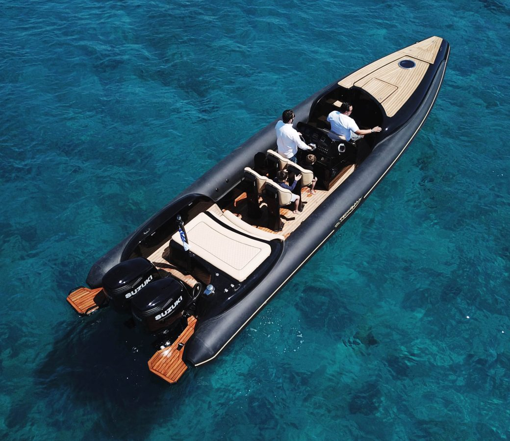 Private RIB boat for rent - Mykonos Paros Athens - Don Blue Yachting Cruises