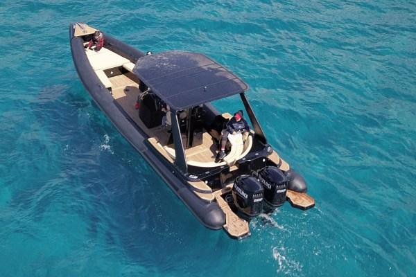 Taras Private RIB Boat rental in Mykonos, Paros & Athens by Don Blue