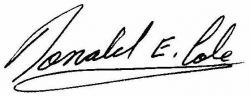 Signature-Donald E. Cole