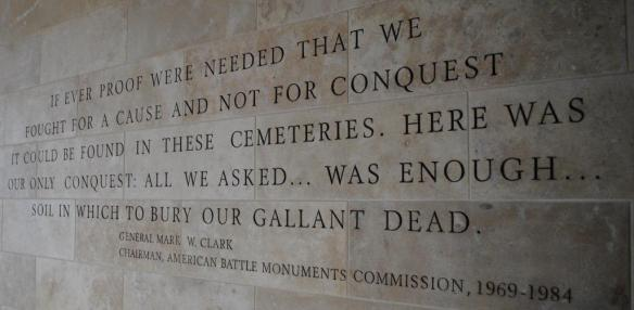 Wall at Normandy Cemetery - American Battle Monuments Commission