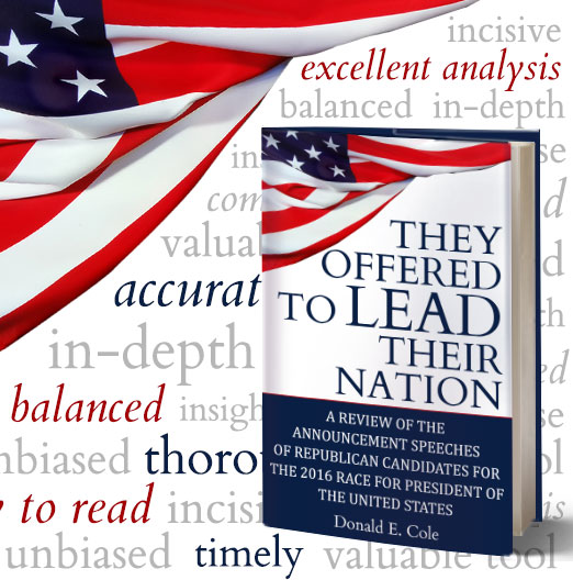 """Photo of US Flag and Book - """"They Offered to Lead Their Nation"""""""