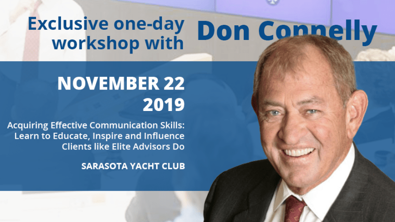 Banner - Full-day Workshop with Don Connelly on Nov 22, 2019