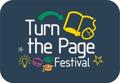 Turn the Page Festival Logo Square