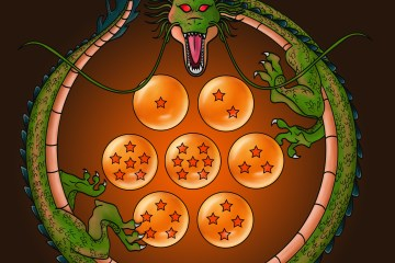 eternal dragon shenron, dragon ball z, dragon balls, dragon, ouroboros, nostalgic, nostalgia, artwork, illustration