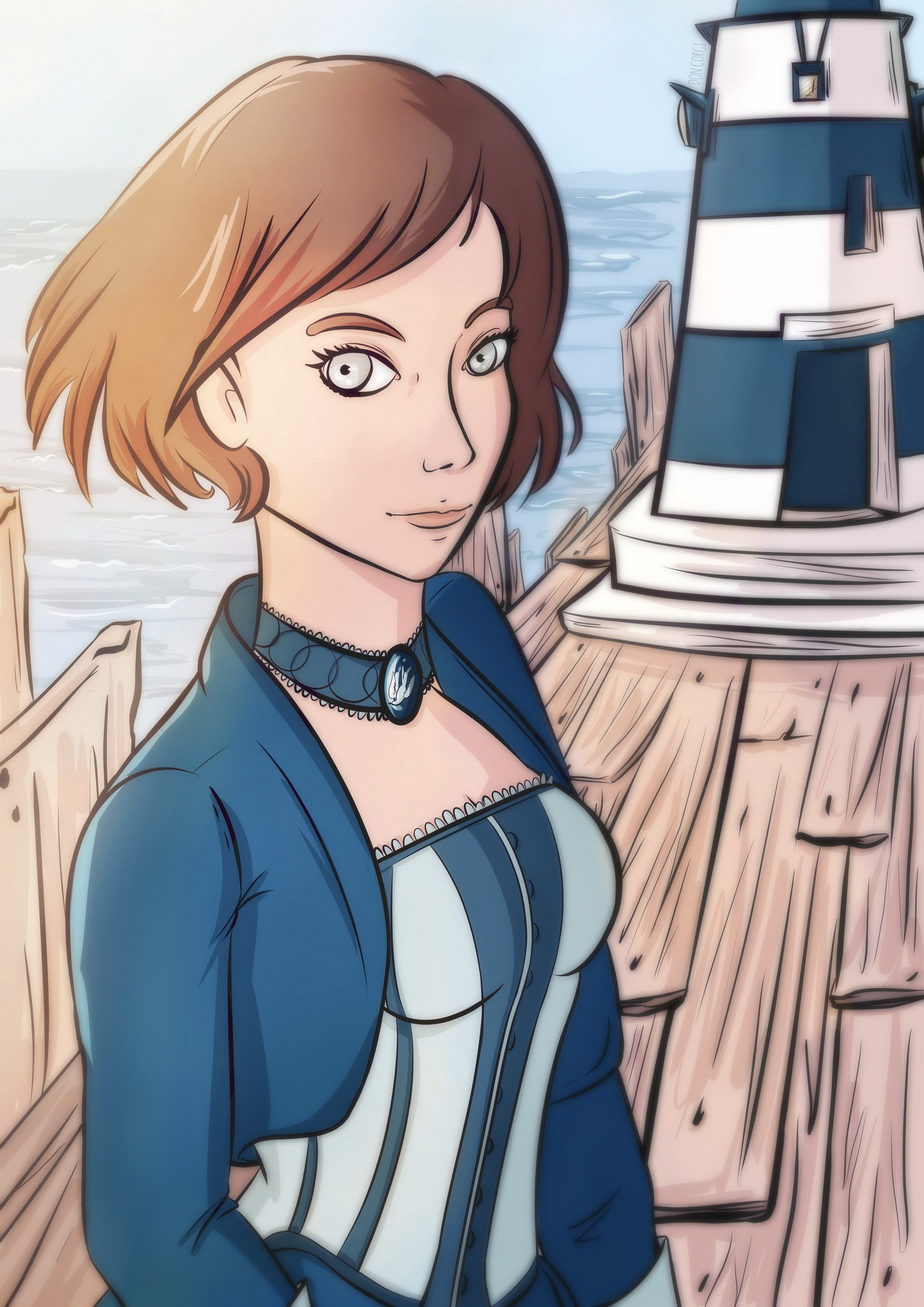 bioshock infinite, elizabeth, character, female, portrait, woman, sexy, cute