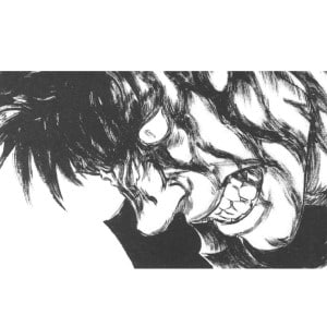 Guts from Berserk shows frustration mixed with anger.