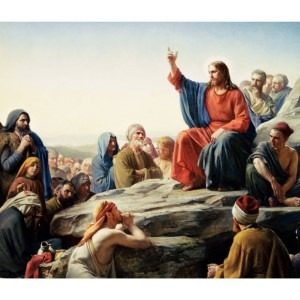 Sermon On The Mount Painting by Carl Bloch, a wonderful use of the 3 Primary colors.