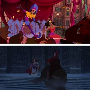 Different types of Saturation used in the movie The Hunchback of Notre-Dame, depicting different moods.