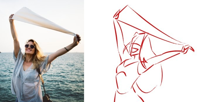 Use Body Language on your drawings to tell a story. Exaggerate the poses!