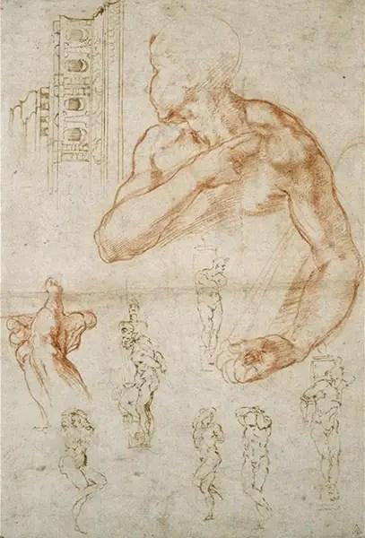 michelangelo gesture drawing study
