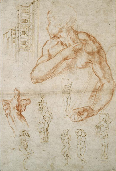 michelangelo gesture drawing study