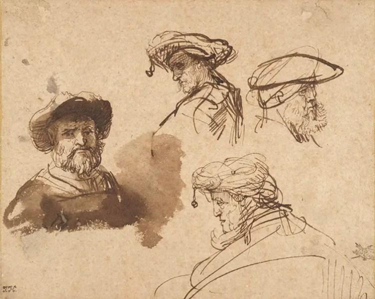 rembrandt gesture drawing practices and studies