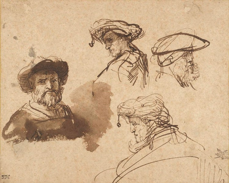 rembrandt gesture drawing practices and studies
